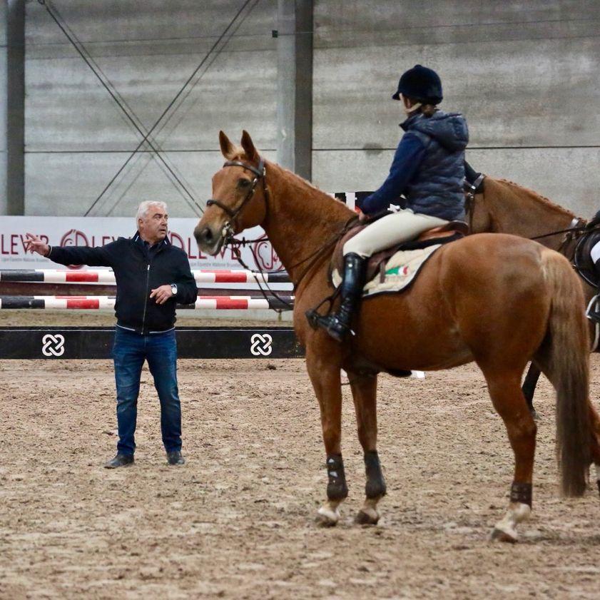Marc Goffin assurait les conseils à cheval (Photo : LEWB)