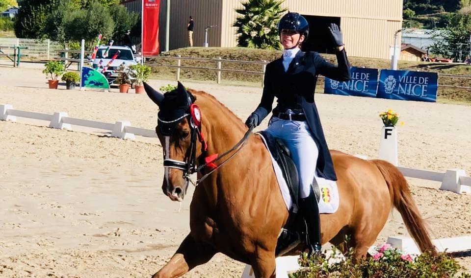 Laureen Poncelet et Andretti au CDI3* de Nice 2018 @ Facebook Laureen Poncelet