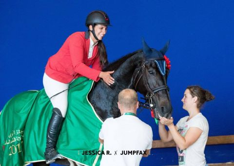 Virginie Thonon - High Tech Vy de Septon - victoire CSI3W  GPW 1M60 El Jadida (c) Jessica R. x Jumpfax