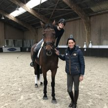 Stage Cavalor dressage 2017 avec Michèle George - Justine Anthoine et Michèle George (c) Justine Anthoine