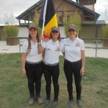 Equipe belge au Championnat d'Europe des jeunes cavaliers de TREC