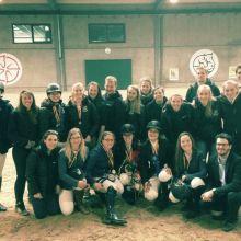 Photo de groupe des cavaliers belges au SRNC Belgium