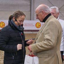 Isabell Werth et Monsieur Eugène Mathy, Président de la LEWB