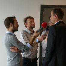 Grégory Wathelet interviewé par divers médias