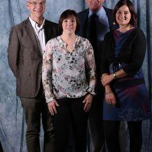 Benoit Debrus, Charline Catoul, Philippe Maquet (membres de la commission) et Florence Hennuy (c) Events Photo Service