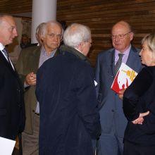Léon Dourcy - Alain Braibant - Joseph Crotteux (directeur en chef du service des Sports de la Province de Liège) - Eugène Mathy (Président LEWB) - Michèle Lempereur