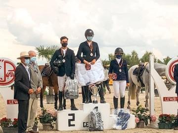 Le podium du championnat LEWB juniors