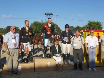 Le podium de la Coupe de Wallonie seniors