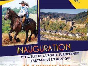 Inauguration de la Route d'Artagnan en Belgique les 7 et 8 octobre 2017 à Bouillon