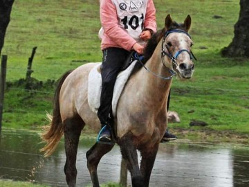 Elisabeth Hardy avec Djihad - CEI 1* Santa Eulalia Portugal 18/01/2020